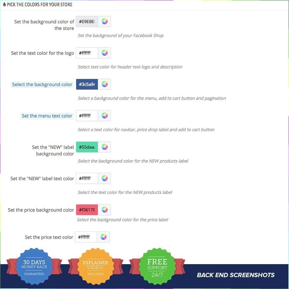 module - Prodotti sui Facebook & Social Network - Social Network Shop PRO - 14
