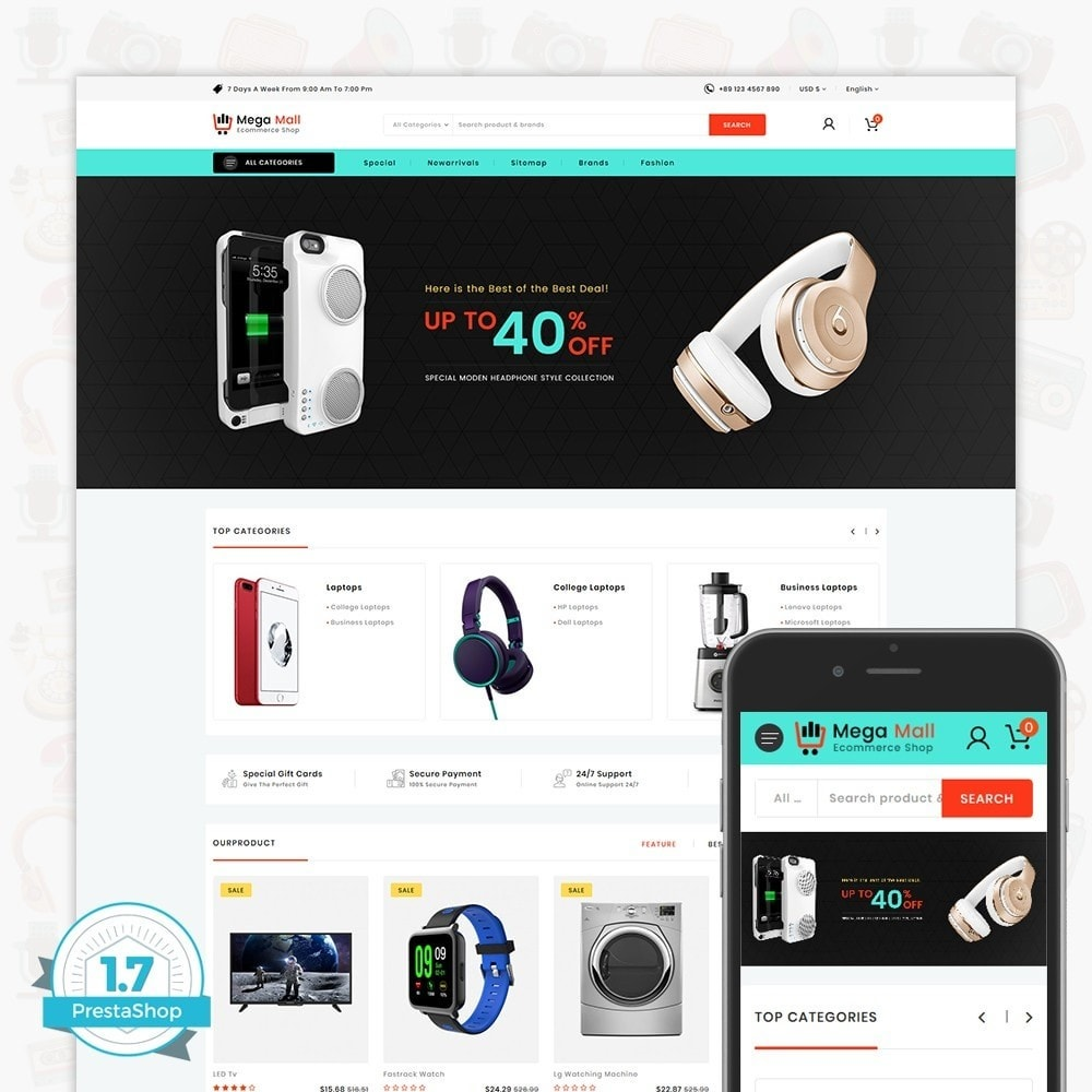 theme - Elettronica & High Tech - Megamall - The E-commerce Shop - 1