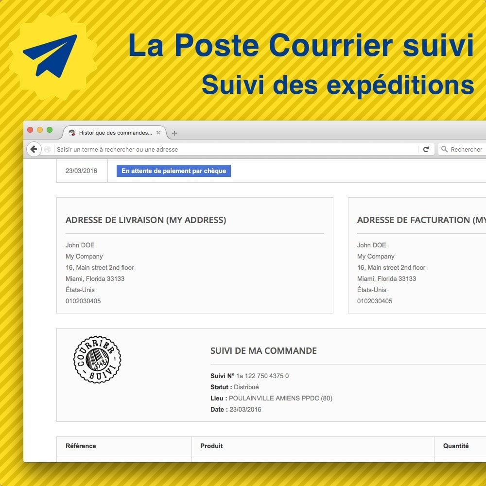 module - Rastreamento da entrega - La Poste • Suivi de mes expéditions - 1