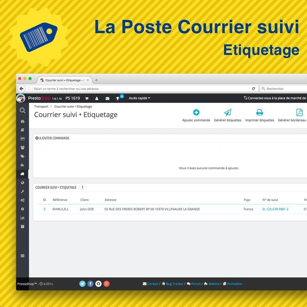 module - Préparation & Expédition - La Poste Courrier suivi • Etiquetage - 2