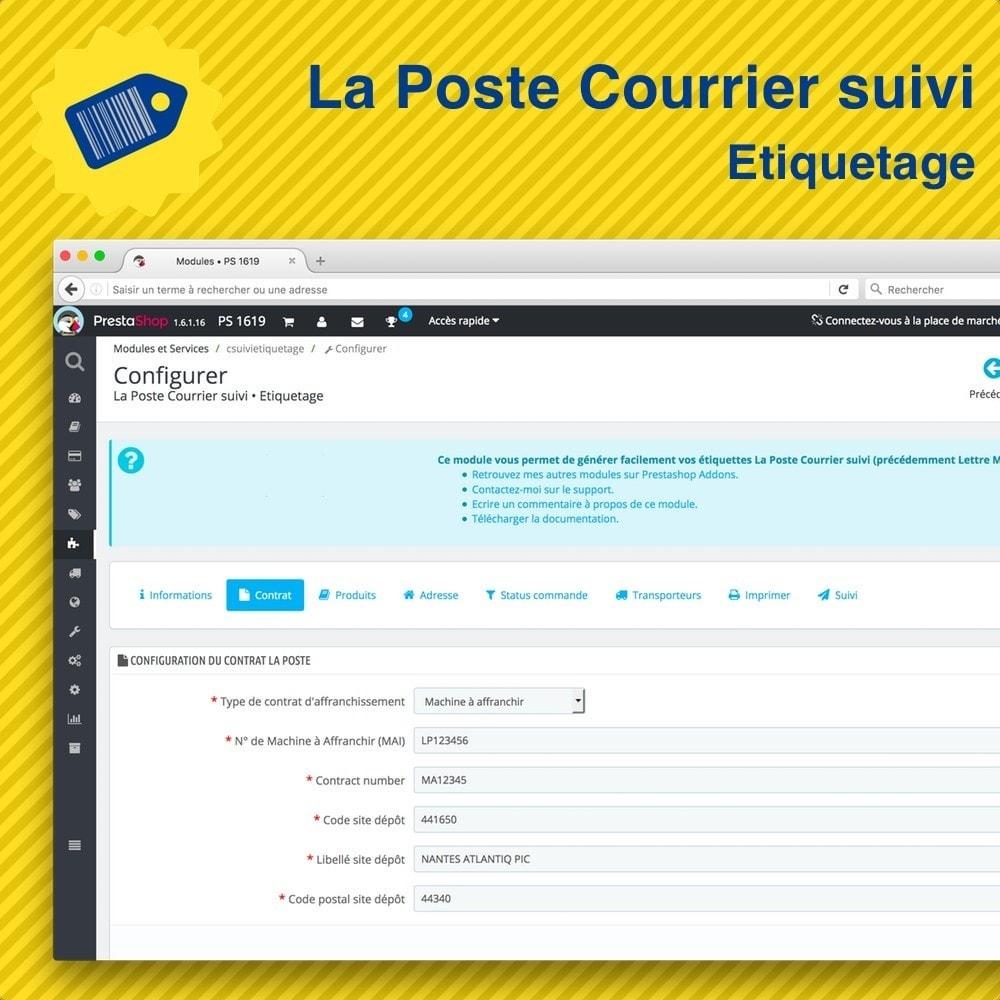module - Préparation & Expédition - La Poste Courrier suivi • Etiquetage - 5