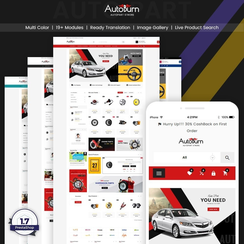 theme - Samochody - Auto Burn  Auto Part and Accessories Super Store v3 - 1