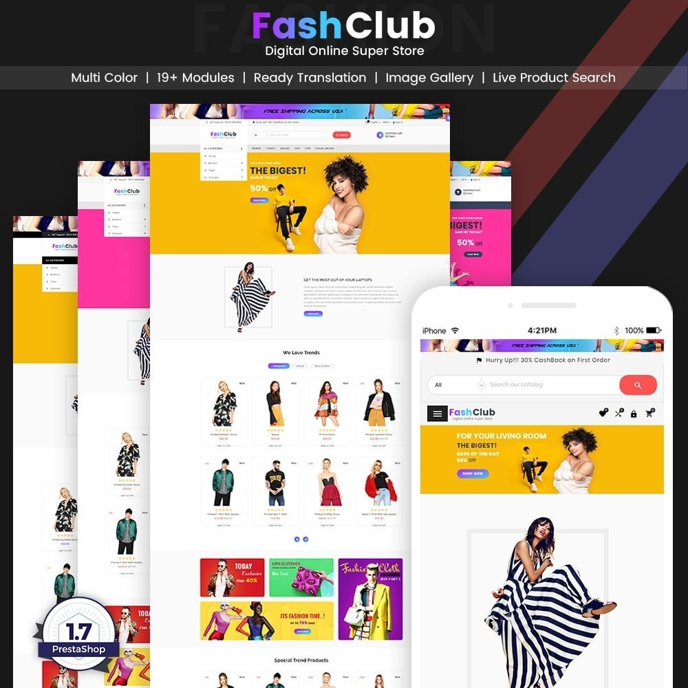 theme - Moda y Calzado - FashClub – Sunday Fashion Digital Store v2 - 1