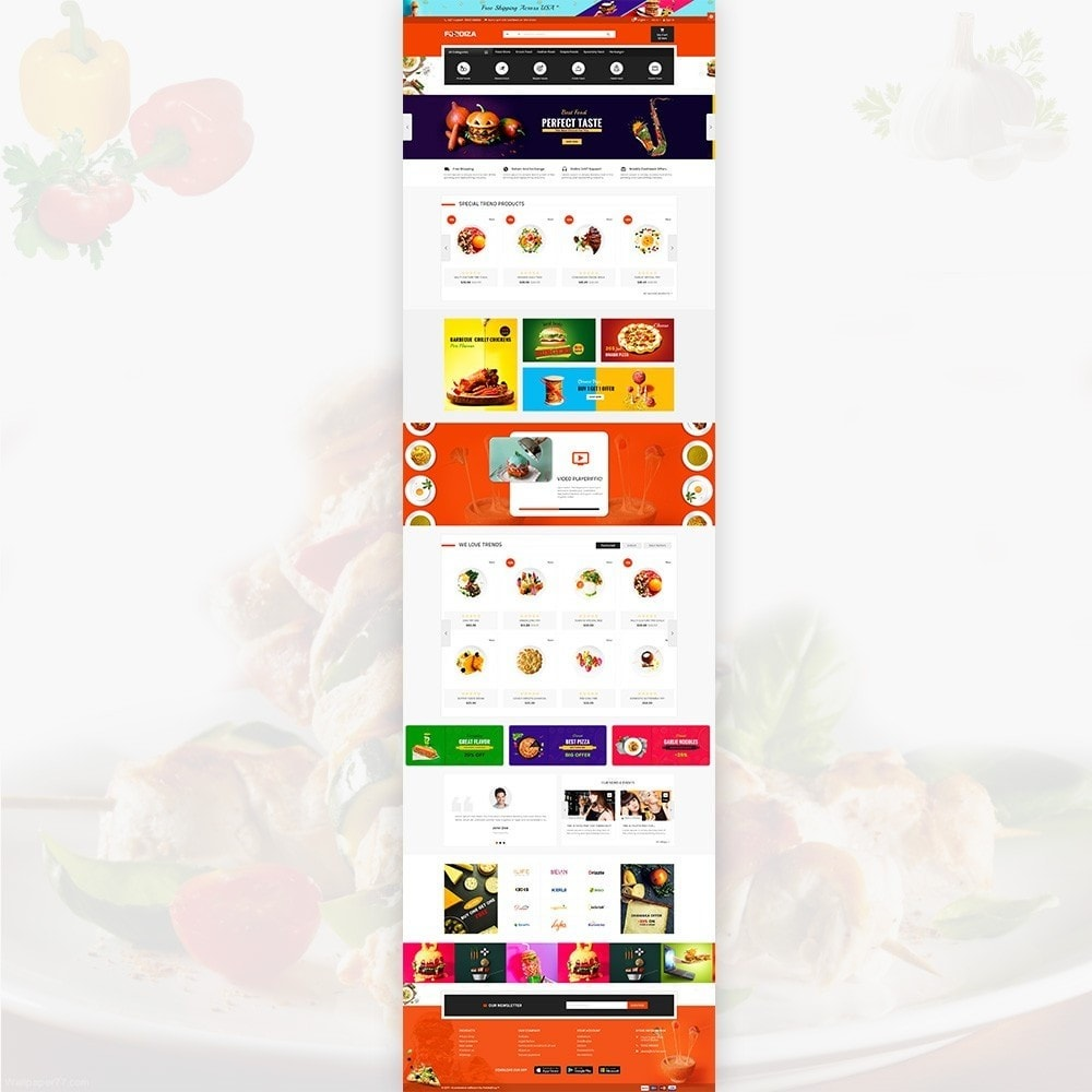 theme - Alimentos & Restaurantes - Foodza Fast Food Super Store - 3