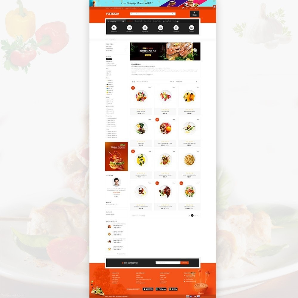 theme - Alimentos & Restaurantes - Foodza Fast Food Super Store - 4