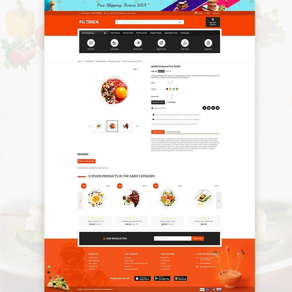 theme - Alimentos & Restaurantes - Foodza Fast Food Super Store - 5