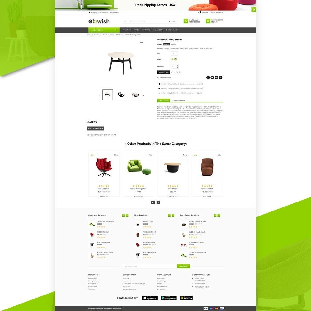 theme - Hogar y Jardín - Glowish – Furniture Super Store v2 - 5