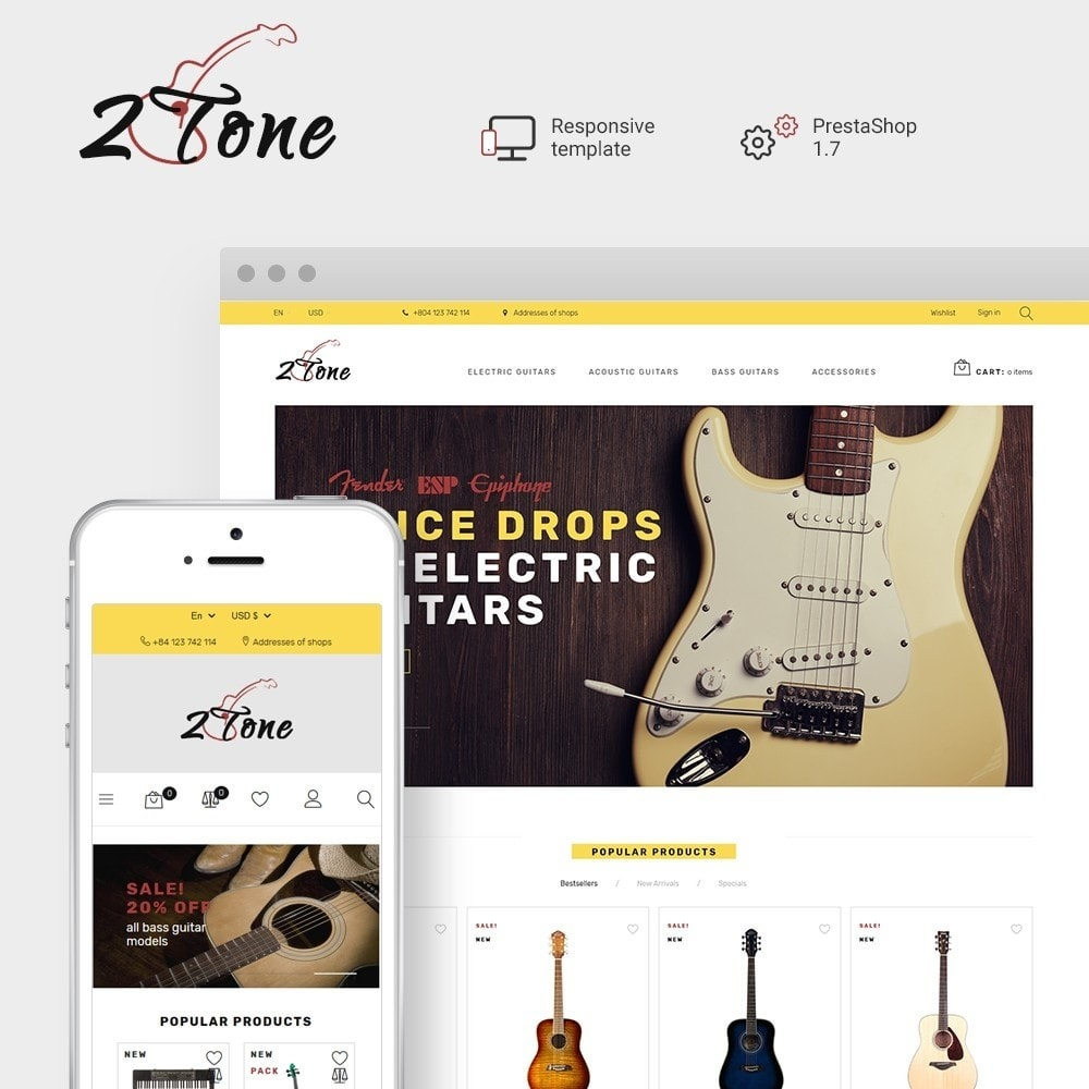 theme - Art & Culture - 2Tone - Guitar Store - 1