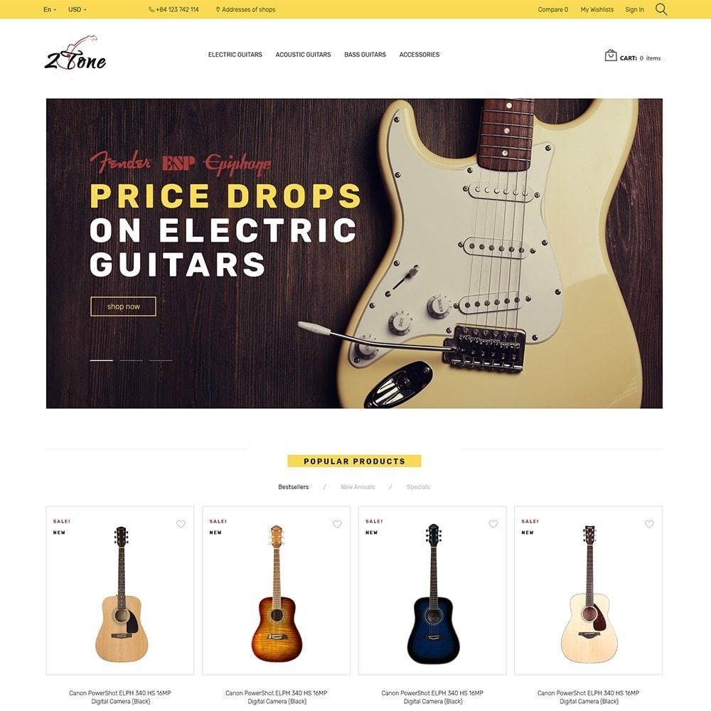 theme - Art & Culture - 2Tone - Guitar Store - 2