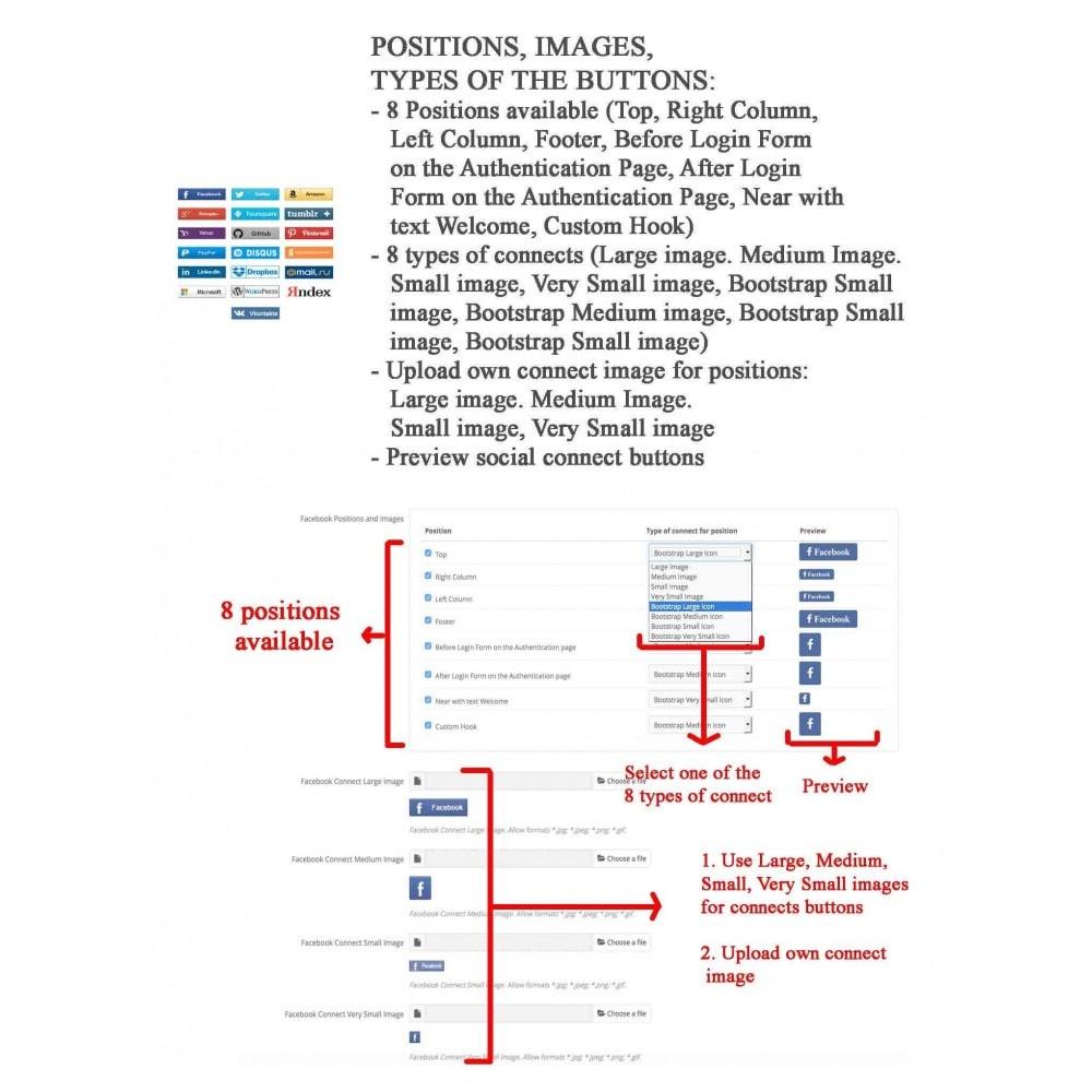 module - Boutons Login & Connect - Logins sociaux + Statistiques (19 en 1) - 15