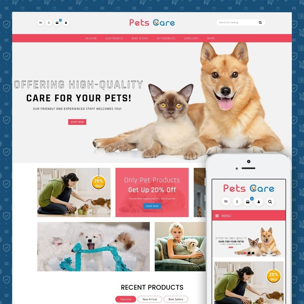theme - Tier - Pets Care - Animals Store - 1