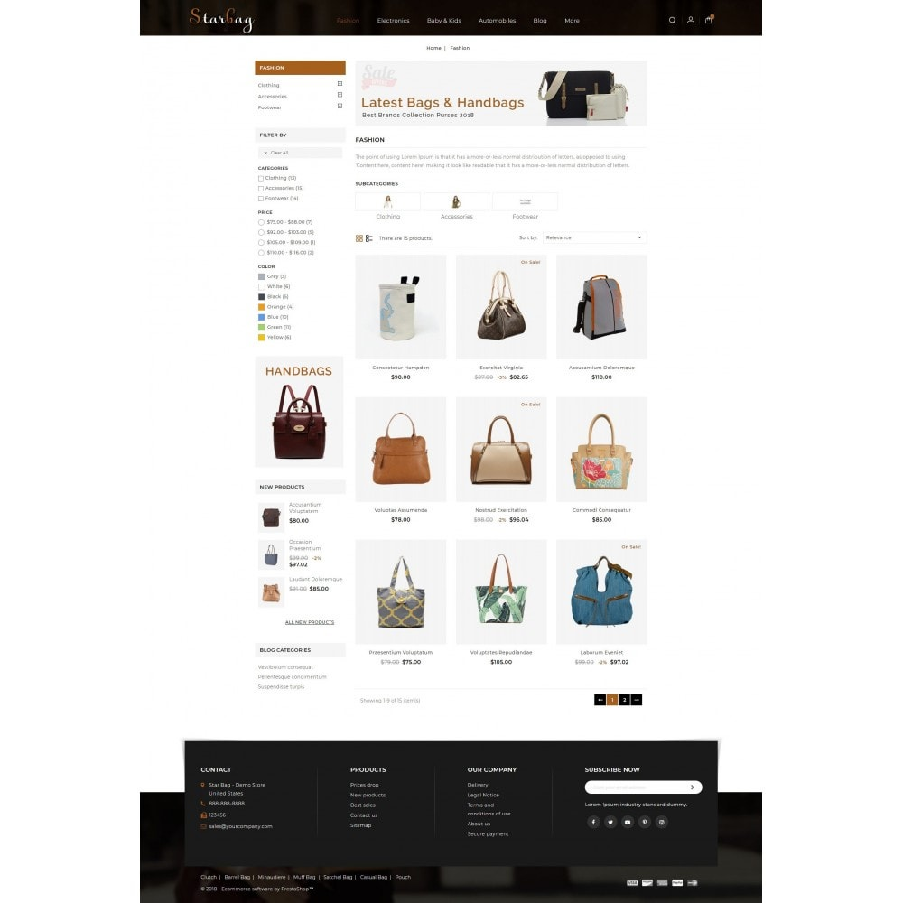 theme - Fashion & Shoes - Star Bag Store - 3
