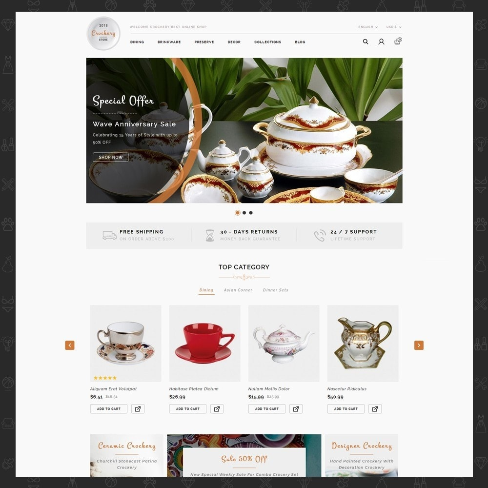 theme - Maison & Jardin - Kitchen Crockery Store - 2