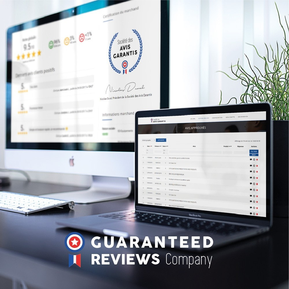 module - Recensioni clienti - Guaranteed Reviews Company, shop and product ratings - 2