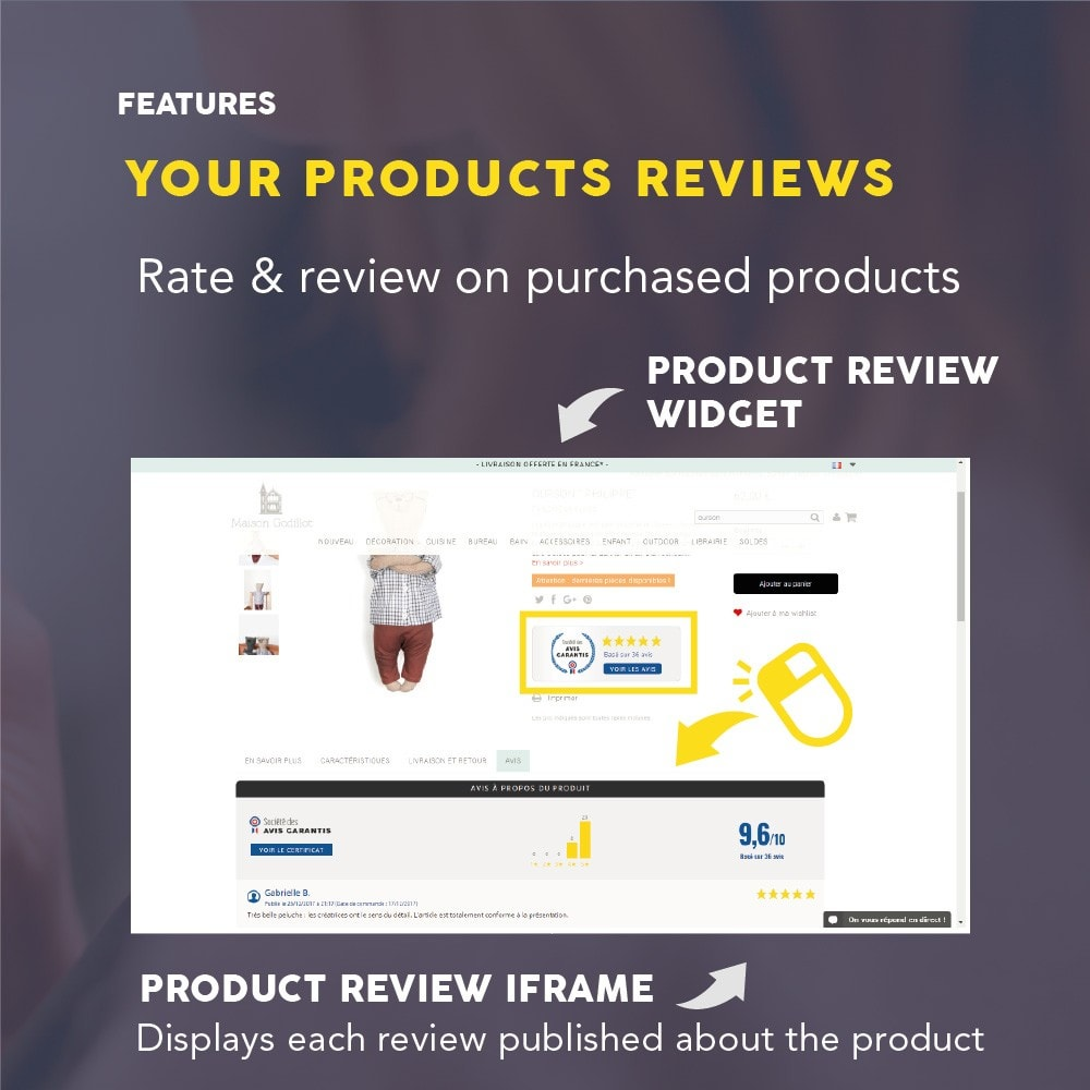 module - Opiniões de clientes - Guaranteed Reviews Company, shop and product ratings - 8