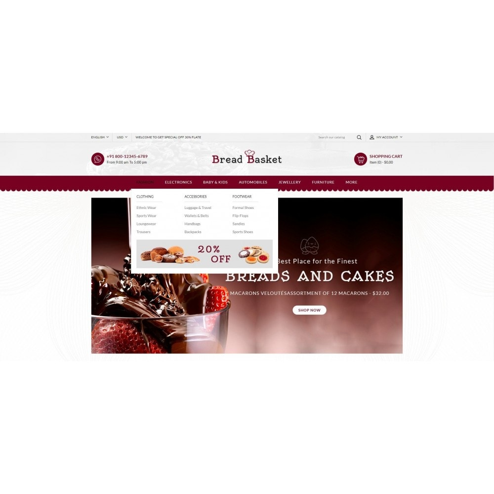 theme - Продовольствие и рестораны - Bread Basket - Bakery Shop - 6