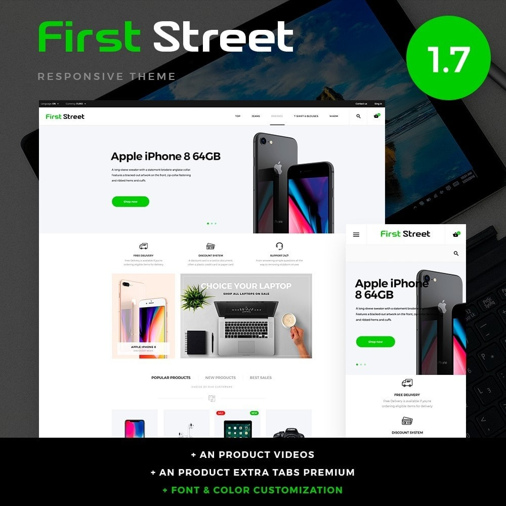 theme - Elektronica & High Tech - First Street - High-tech Shop - 1