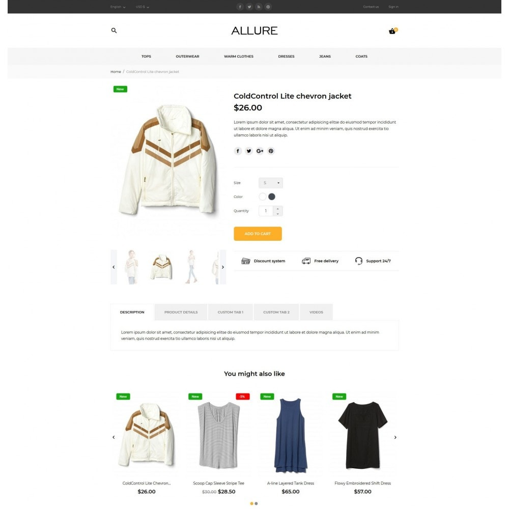 theme - Мода и обувь - Allure Fashion Store - 8
