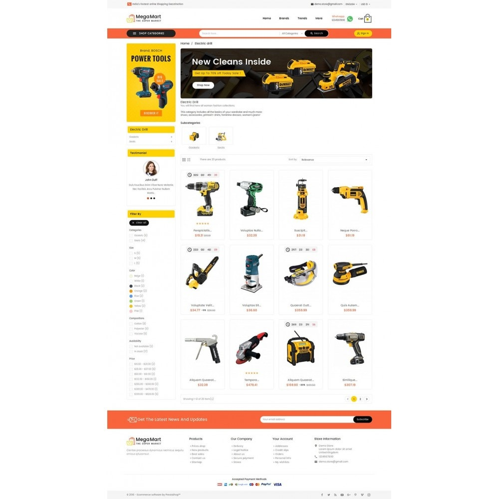 theme - Electronics & Computers - Mega Mart Tools Equipment - 3