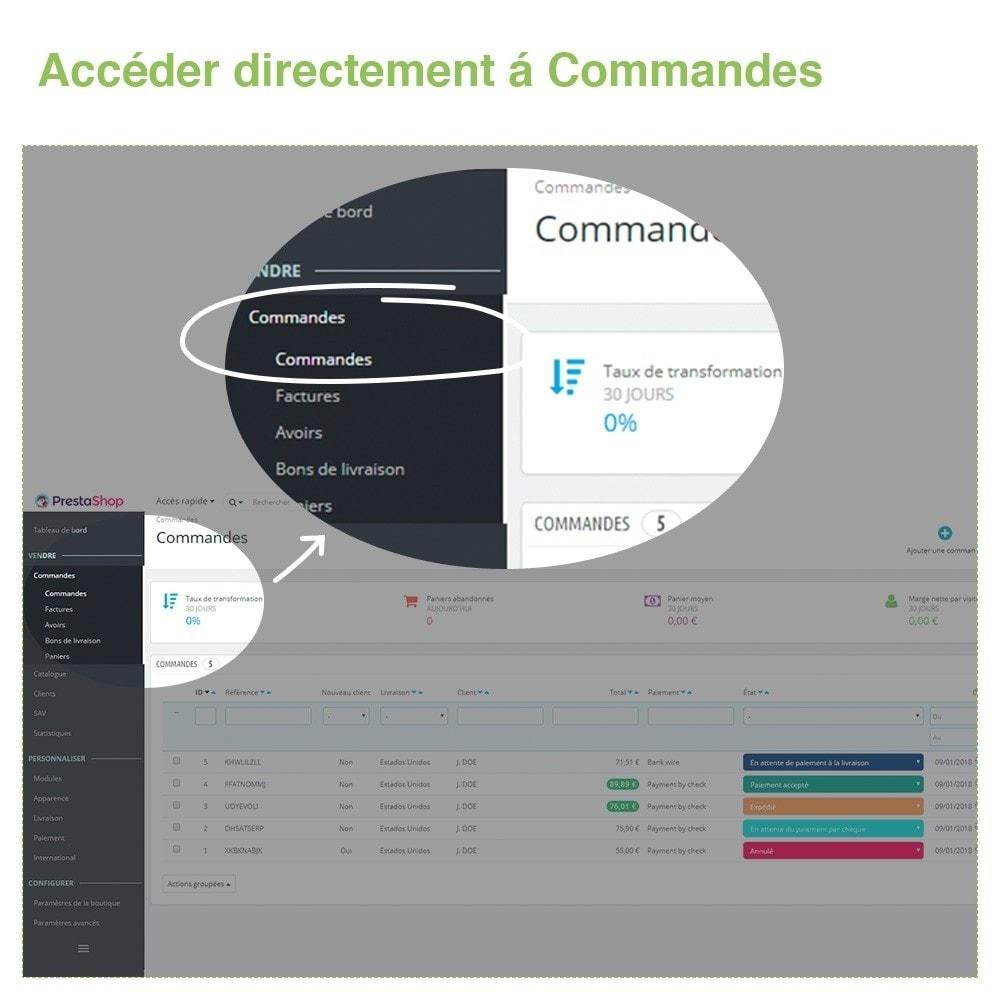 module - Gestion des Commandes - Changer État des Commandes depuis Liste des Commandes - 2