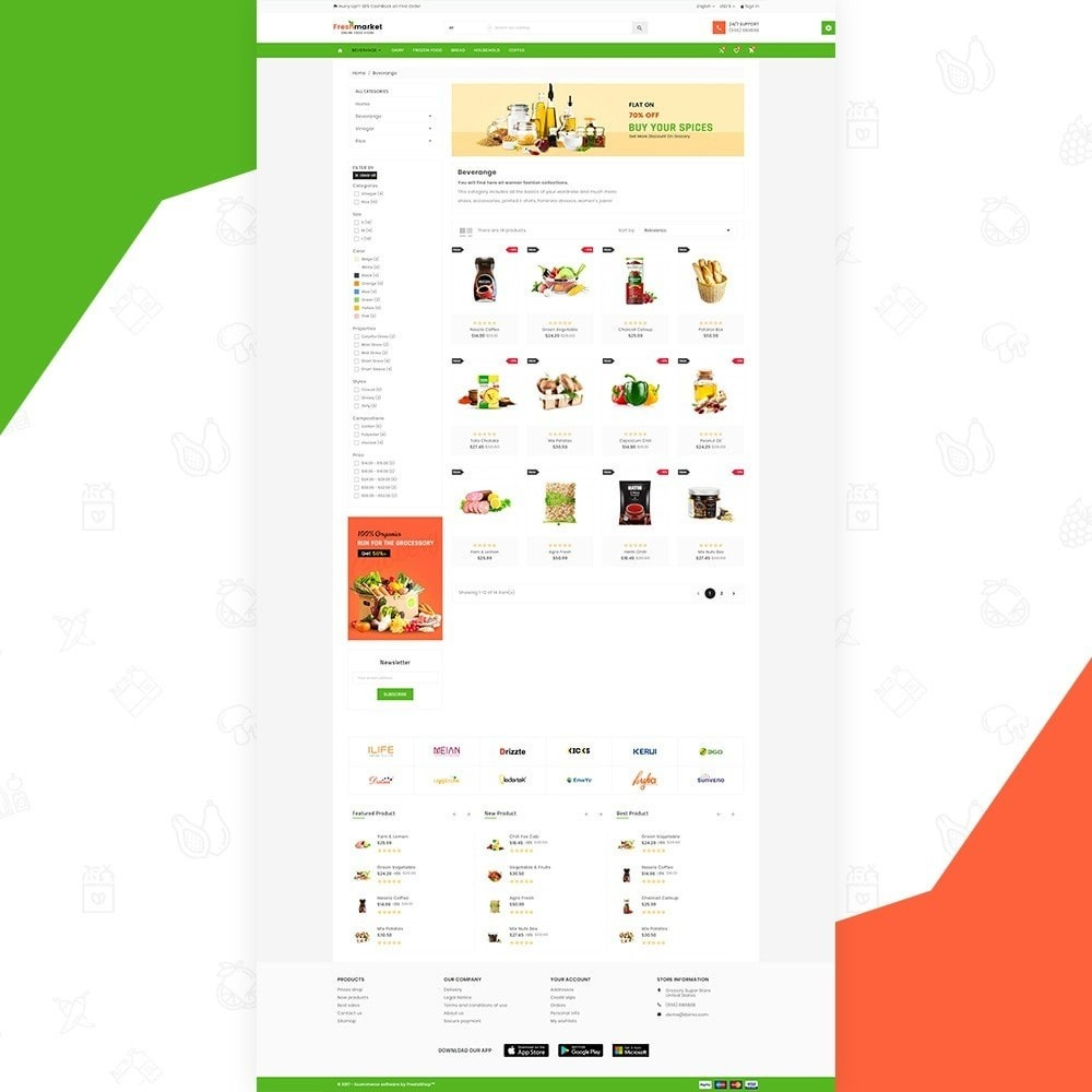 theme - Lebensmittel & Restaurants - Fresh Market – Food Super Store v3 - 4