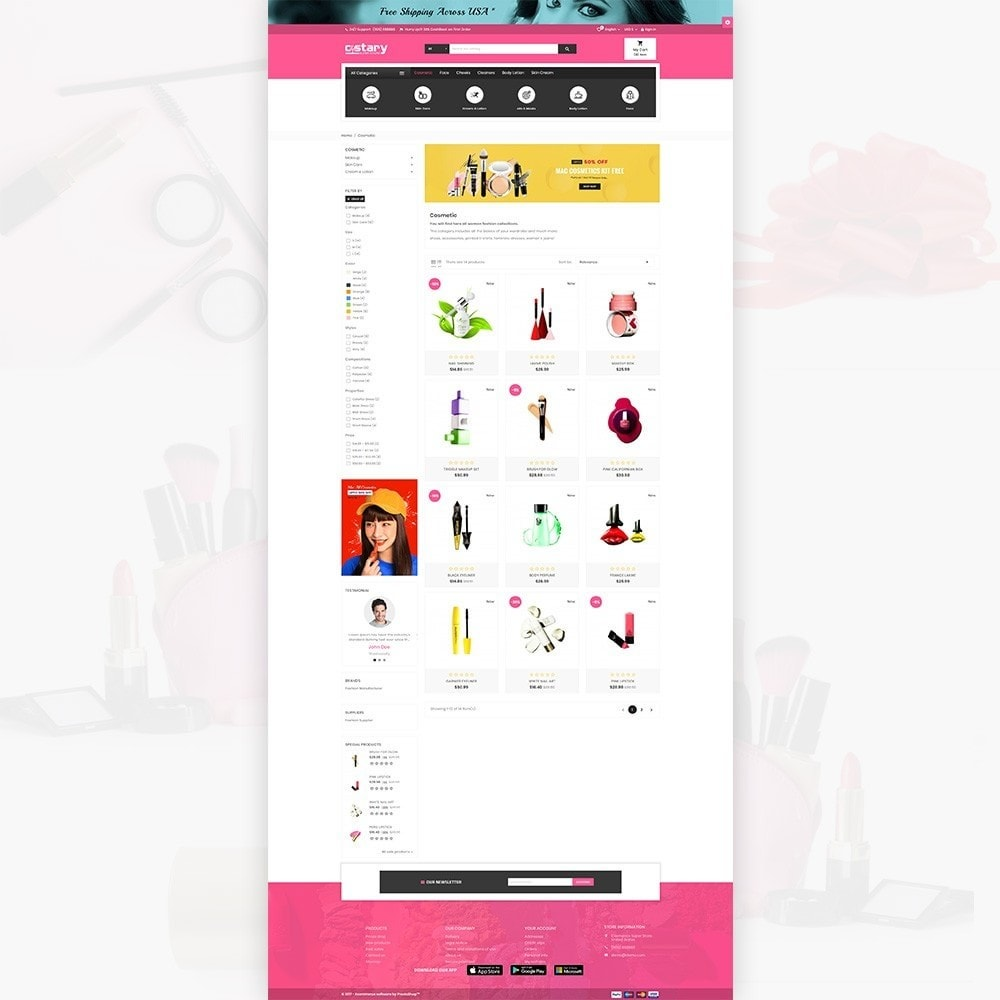theme - Saúde & Beleza - Costary Cosmetics Beauty Super Store - 4