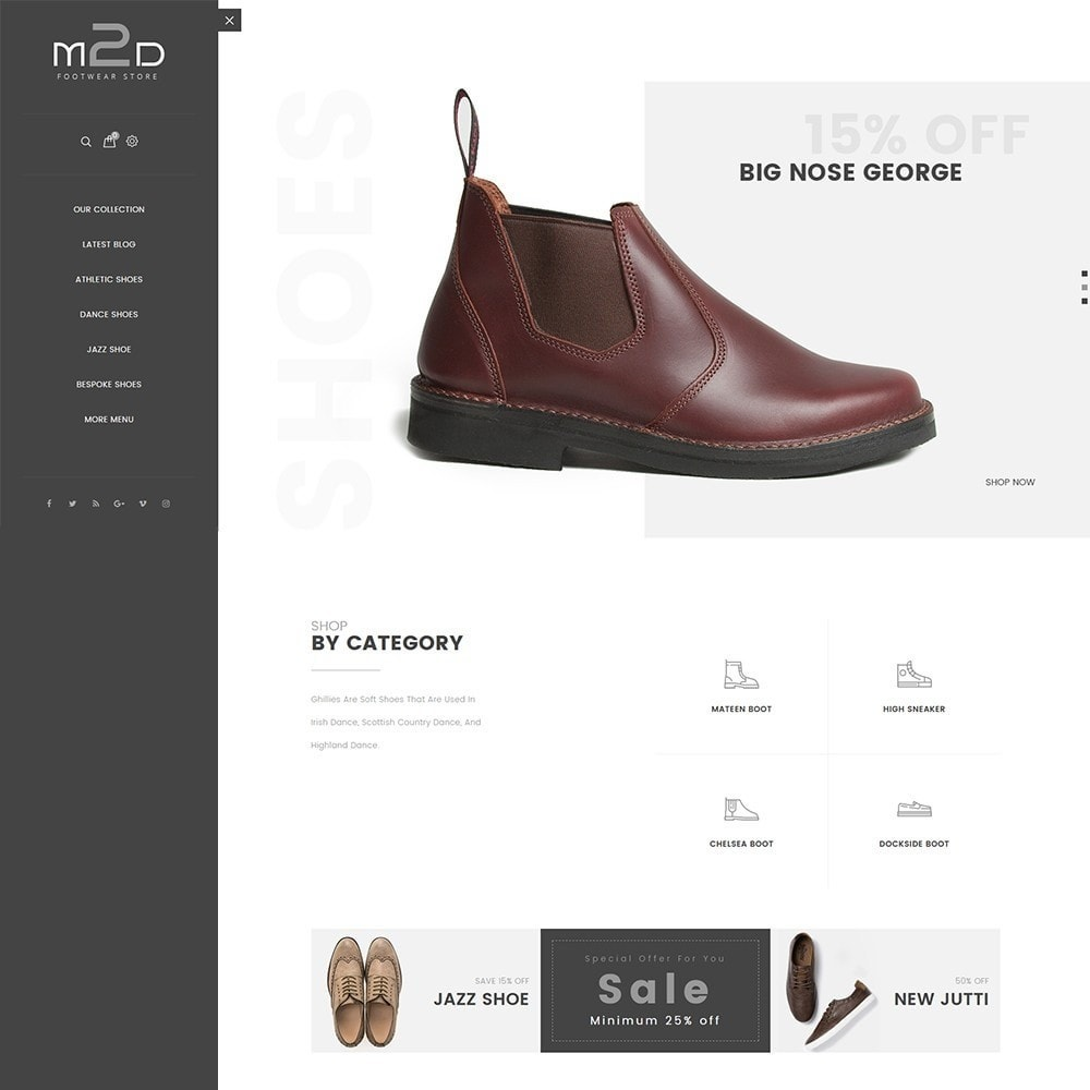 theme - Moda & Calzature - M2D Footwear - 2