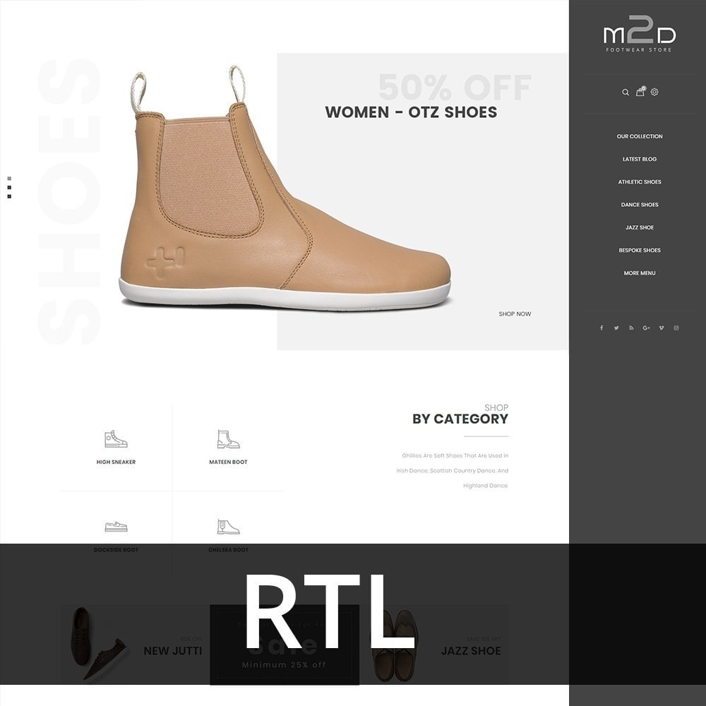 theme - Mode & Chaussures - M2D Footwear - 3