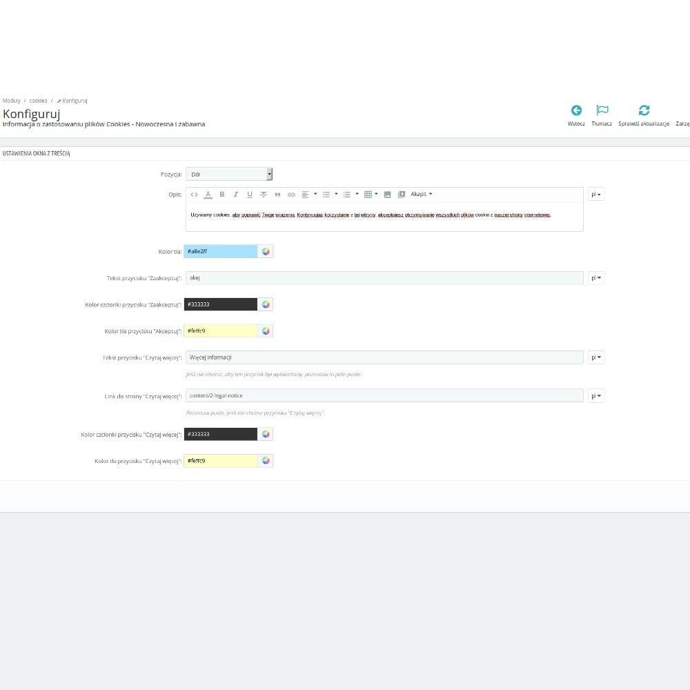 module - Wzmianki prawne - Nowoczesna informacja o zastosowaniu plików Cookies - 4
