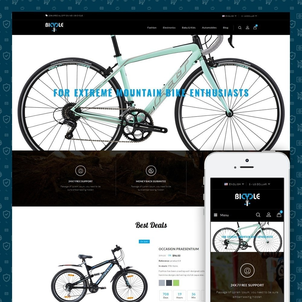 theme - Carros & Motos - Bicycle Store - 1