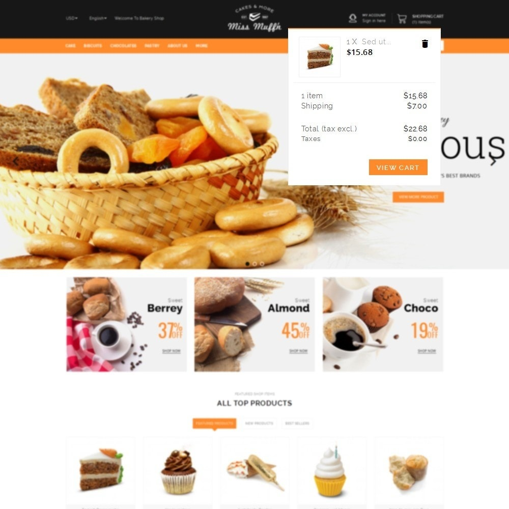 theme - Alimentation & Restauration - Bakery Store - 8