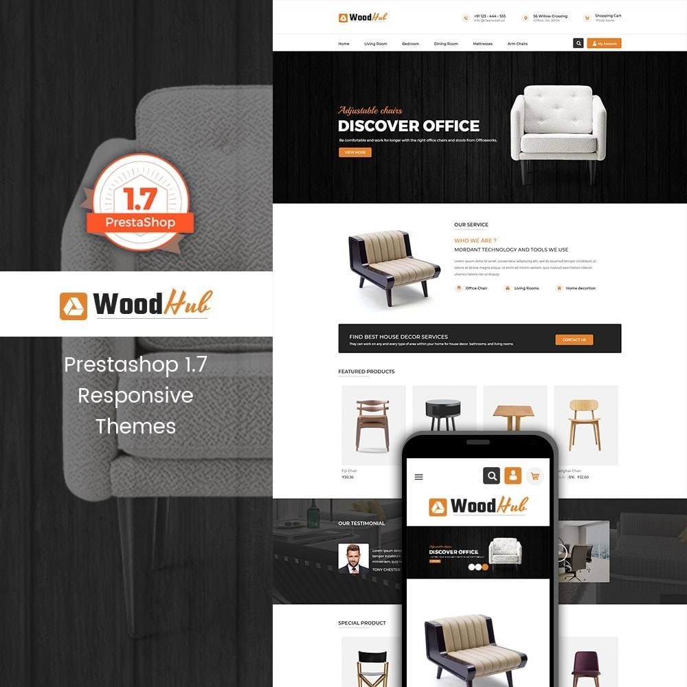 theme - Dom & Ogród - Woodhub Furniture Store - 1