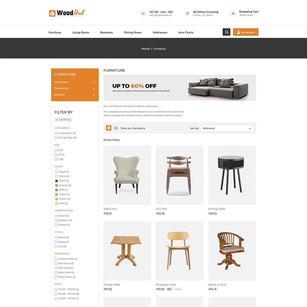 theme - Dom & Ogród - Woodhub Furniture Store - 3