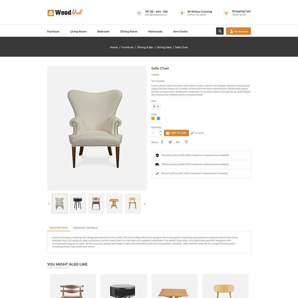 theme - Dom & Ogród - Woodhub Furniture Store - 5