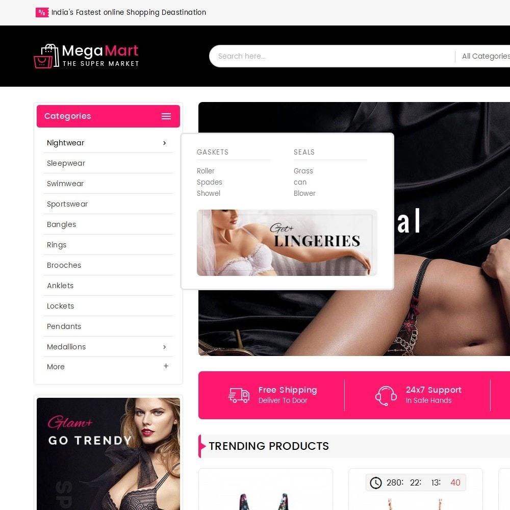 theme - Lingerie & Adultos - Mega Mart Sexy Lingerie - 9