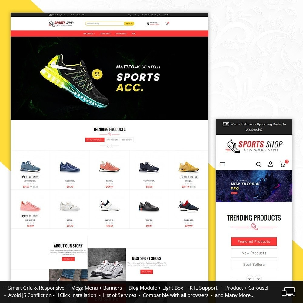 theme - Sport, Aktivitäten & Reise - Sport Shoes & Footwear - 1